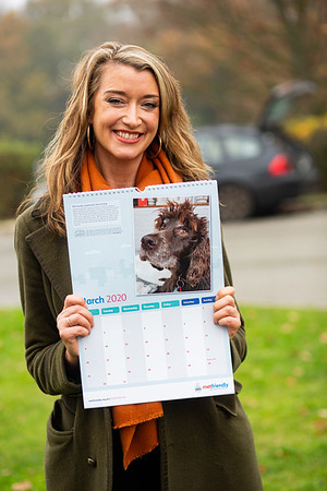 Radio presenter Sarah Champion holding her Metfriendly calendar