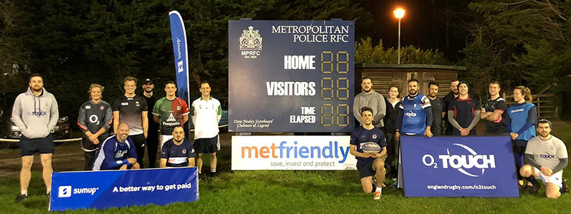 Join the Met Police Rugby Club on Mondays for touch rugby
